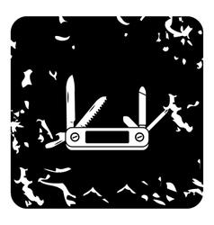 Pocket knife icon grunge style vector