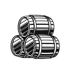 black barrels vector image
