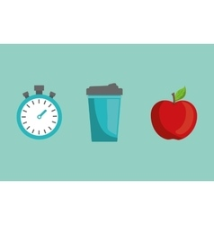 Fitness healthy food vector