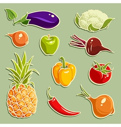 Fruits and Vegetables set 2 vector image