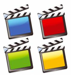 Coloured clapper boards vector