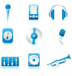 set of musical component vector image