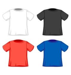 Design models of t-shirts vector image
