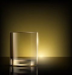 Empty glass on the table vector