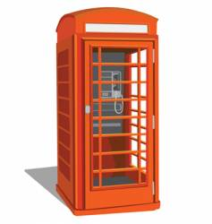 London telephone box vector