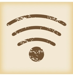 Grungy wi-fi icon vector