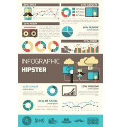 Hipster infographics set vector
