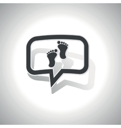 Curved footprint message icon vector