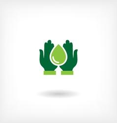 Saving water icon vector