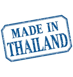 Thailand - made in blue vintage isolated label vector
