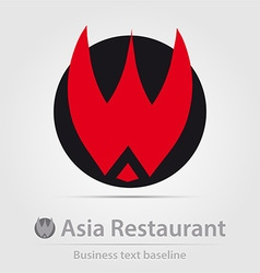 Asia restaurant business icon vector image vector image