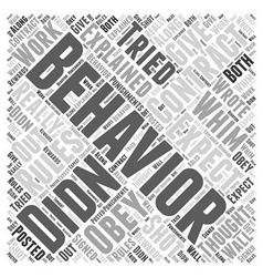 Behavior contracts word cloud concept vector