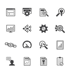 Big data icons set seo concept vector