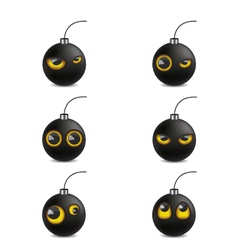 Bomb emoticon cartoon vector image