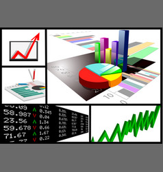 Business graphic set vector