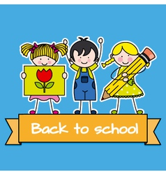 Children back to school vector