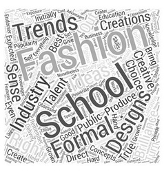 Fashion schools word cloud concept vector