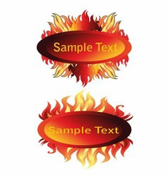 Fire and flame frame vector