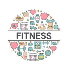 fitness design concept fitness design concept vector image vector image