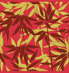 Floral bamboo leaves pattern nature leaf seamless vector