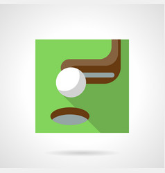 golf flat color icon vector image vector image