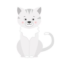 Grey cat for children vector