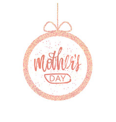 Happy mother s day greeting card frame with a vector