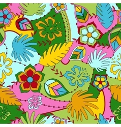 Hawaiian seamless pattern vector image vector image