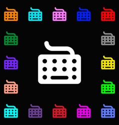 keyboard icon sign Lots of colorful symbols for vector image