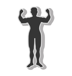 Man bodybuilding muscles vector