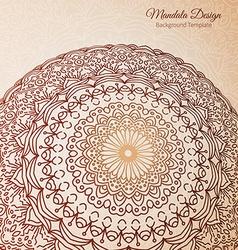 Mandala ethnic background vector