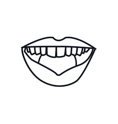 Outline mouth lips woman expression vector