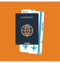Passport ticket background vector
