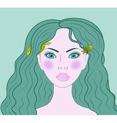Pisces beautiful girl portrait vector