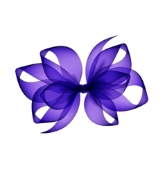 Purple transparent bow top view on background vector