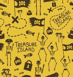 Sceletons pirates seamless pattern vector