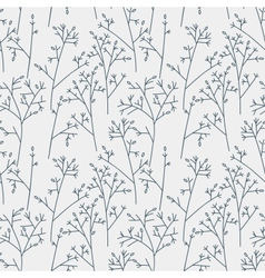 Seamless pattern with trees and branches vector image vector image