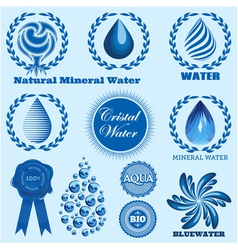 set of icons on the theme water vector image