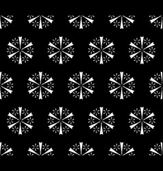 simple floral seamless pattern snowflakes pattern vector image vector image