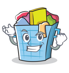 Successful laundry basket character cartoon vector