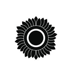 Sunflower black simple icon vector image