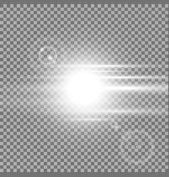 Sunrise light effect white color vector