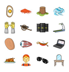 table mirror medical and other web icon in vector image vector image