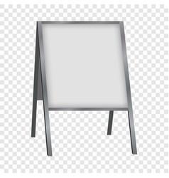 White blank sandwich board mockup realistic style vector