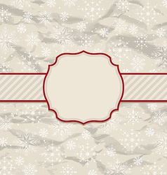 Old vintage invitation with snowflakes vector