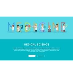 Medicine banner science alphabet vector
