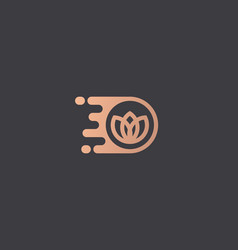 Flower logo design template dynamic vector