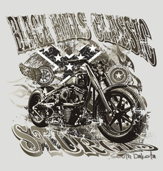 Blackhills sturgis motorcycle vector