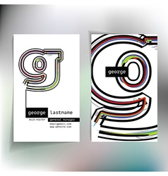 Business card design with letter g vector