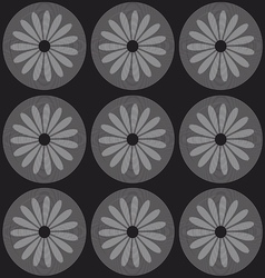 Circle lines and flowers silhouettes vector